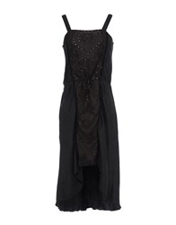 Burning Torch 3 4 Length Dresses Black
