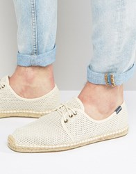 Soludos Derby Lace Up Mesh Espadrilles Beige