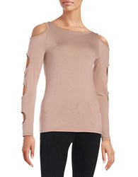 Design Lab Lord And Taylor Cutout Cold Shoulder Top Copper