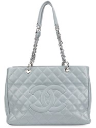 Chanel Vintage 'Grand Shopping' Tote Grey