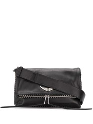 Zadig And Voltaire Rocky Foldover Crossbody Bag Black