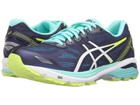 Asics Gt 1000 5 Indigo Blue White Safety Yellow Women's Running Shoes