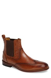 Stacy Adams Men's Madison Ii Wingtip Chelsea Boot Cognac