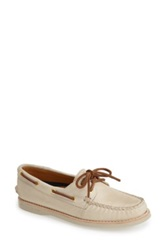 Sperry 'Authentic Original Gold Cup' Leather Boat Shoe Women Beige