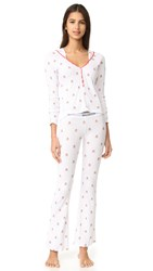 Wildfox Couture Raining Gingerbread Pj Set Clean White