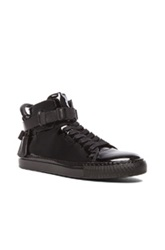 Buscemi 100Mm Patent Leather High Tops In Black