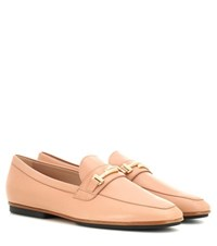 Tod's Gomma Leggero Leather Loafers Pink