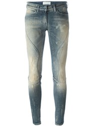 Faith Connexion Distressed Slim Jeans Blue