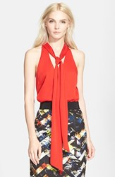 Women's Milly Scarf Detail Stretch Silk Halter Top