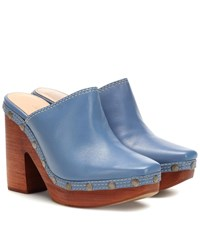 Jacquemus Les Sabots Leather Mules Blue