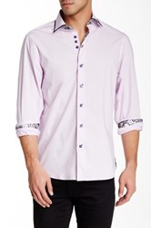 Brio Front Button Contemporary Fit Shirt Purple