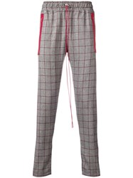 Represent Checked Print Loose Trousers White
