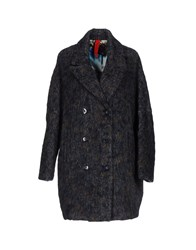 Femme By Michele Rossi Coats Dark Blue
