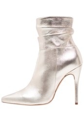 Mai Piu Senza High Heeled Ankle Boots Platino Gold