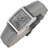 Raymond Weil Don Giovanni Diamond Frame And Satin Gray Band Dress Watch