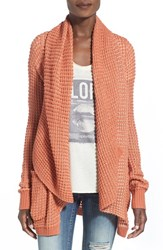 Women's Rip Curl 'Shambala' Open Front Cardigan Orange
