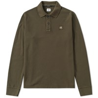 C.P. Company Long Sleeve Pique Polo Green