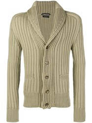 Tom Ford Ribbed Cardigan Nude And Neutrals