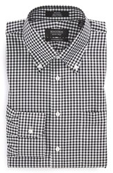 Men's Nordstrom Men's Shop Traditional Fit Non Iron Gingham Dress Shirt Black Rock