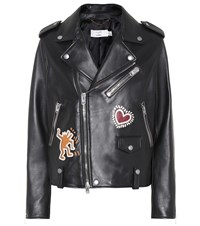 Coach X Keith Haring Leather Jacket Black
