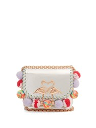 Sophia Webster Claudie Embellished Small Leather Cross Body Bag Silver Multi