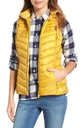 Barbour Women's Lowmoore Quilted Hooded Vest Harvest Gold