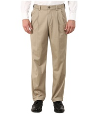 Dockers Comfort Khaki Upgrade Relaxed Pleated British Khaki Men's Casual Pants Brown