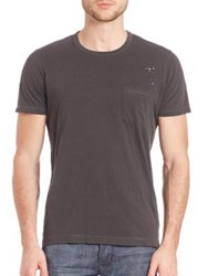 Splendid Mills Distressed Active Tee Black