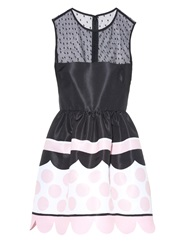 Red Valentino Polka Dot Printed Taffeta Mini Dress