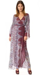 Bcbgmaxazria Larina Maxi Dress Burgundy Combo