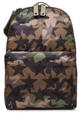 Valentino Camustars Printed Backpack With Stud Embellishment Multicolor