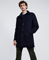 Aspesi Boiled Wool Coat Virtuoso Navy Blue