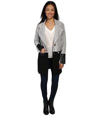 Fate Long Color Block Blazer Grey Women's Coat Gray