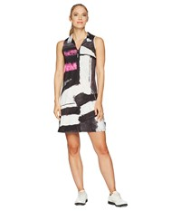 Jamie Sadock Osaka Print Dress Jet Black
