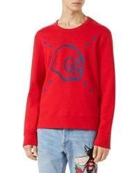 Guccighost Sweatshirt Red