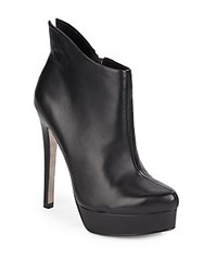 Kristin Cavallari Chinese Laundry Lavish Leather Platform Booties Black