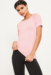 Missguided Active Pink Fitted T Shirt