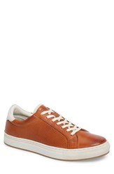 Kenneth Cole New York Don Embossed Lace Up Sneaker Cognac Leather