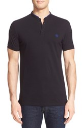 Men's The Kooples Grosgrain Trim Band Collar Polo