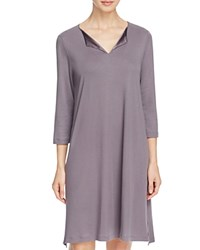 Hanro Adriana Three Quarter Sleeve Gown Warmgray