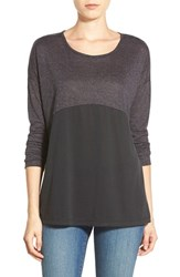 Women's Pleione Colorblock Tee Grey Black