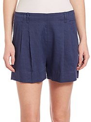 Vince Pleated Front Shorts Blue Marine
