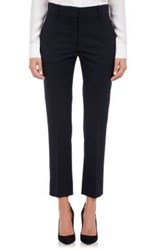 Barneys New York Women's Stretch Wool Crop Trousers Navy