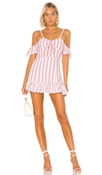 Tularosa Brinley Dress In Red. Red And White Stripe