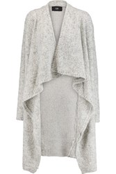 Line Abigail Boucle Cardigan Light Gray