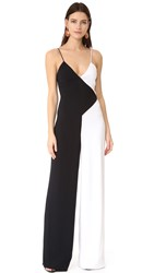 Cushnie Et Ochs Two Tone Wide Leg Jumpsuit Black White
