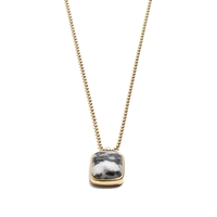 J.Crew Stone Pendant Necklace Black