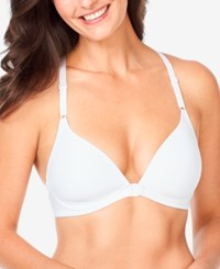Warner's Play It Cool Front Close Racerback Bra Rm4281a White