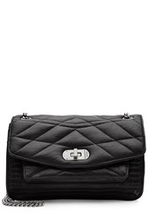 Zadig And Voltaire Quilted Leather Shoulder Bag Black