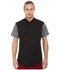 Publish Hans Premium Oxford Short Sleeve Button Up Black Men's Clothing